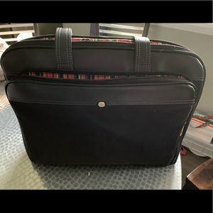 Swiss shoulder tote laptop bag black